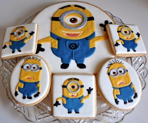minion, cake, and delicious image