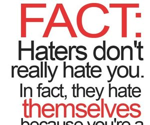 haters, facts, and quotes image