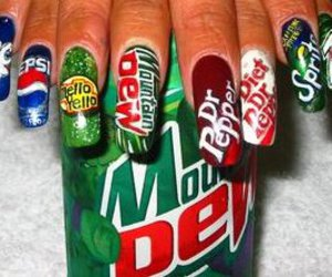 nails, cool, and drink image