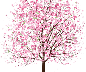 cute, pink, and tree image