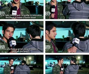 tyler posey, dylan o'brien, and funny image