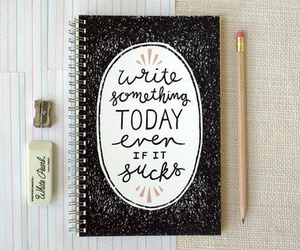write, book, and notebook image