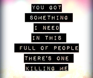 one republic, you got something i need, and there's one killing me image