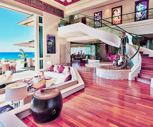 luxe, pink, and villa image