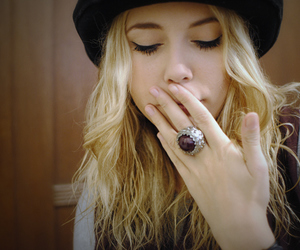 girl, ring, and blonde image