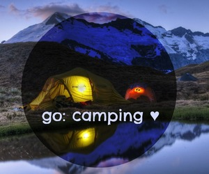 beauty, camping, and nature image