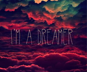 Dream, dreamer, and clouds image