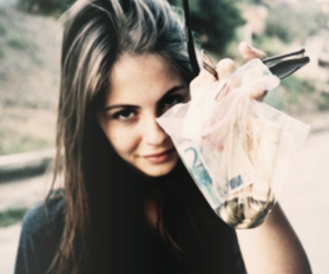 girl, willa holland, and money image