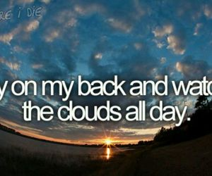 before i die and clouds image