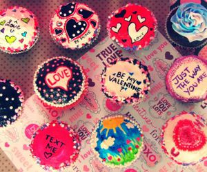 love, cupcake, and muffin image