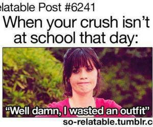 crush, outfit, and school image