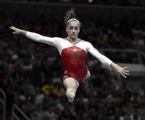 beam, gymnastics, and balance beam image