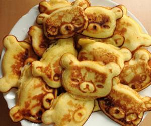 food, bear, and pancakes image