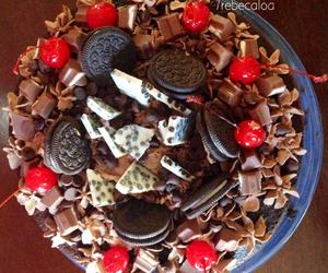 beauty, cake, and chocolate image