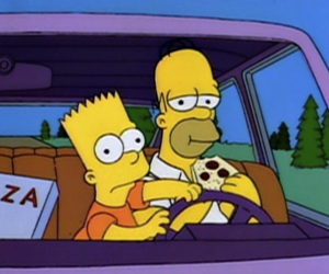 pizza, simpsons, and the simpsons image