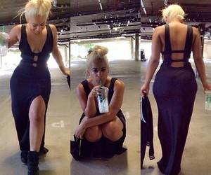 blonde, dope, and long dress image