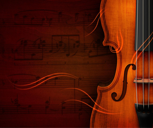 music, sheet music, and violin image