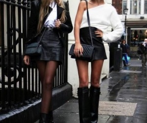 leather bestiesfashion,bff,leathr