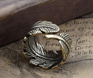 ring, feather, and jewelry image