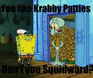 spongebob, squidward, and krabby patties image