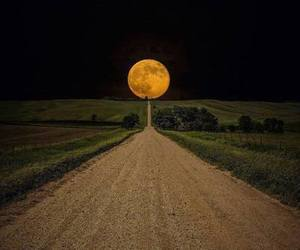 amazing, moon, and view image