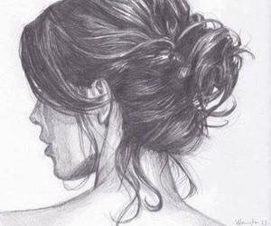beautiful, girl, and bun image