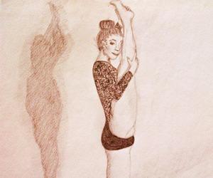 ballerina, pencil, and drawing image