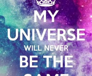 crown, galaxy, and quote image