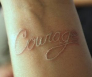 courage and tattoo image