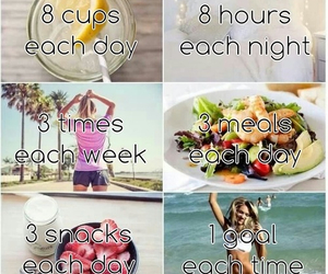 cups, food, and goals image