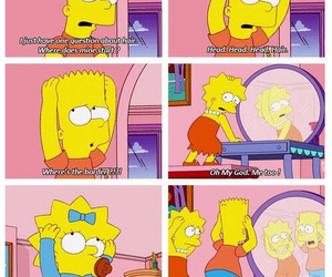 the simpsons, funny, and hair image