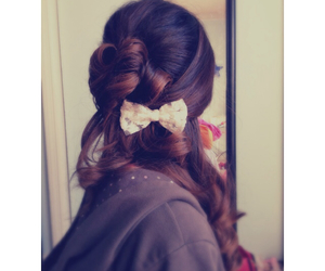 bows, curly, and hair image