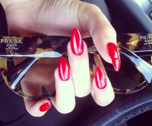 nails, Prada, and red image