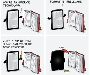 book, funny, and technology image