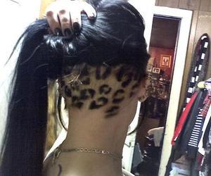 hair, leopard, and undercut image