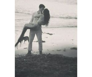 beach, fairytale, and kiss image