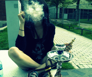 smoke, weed, and hookah image