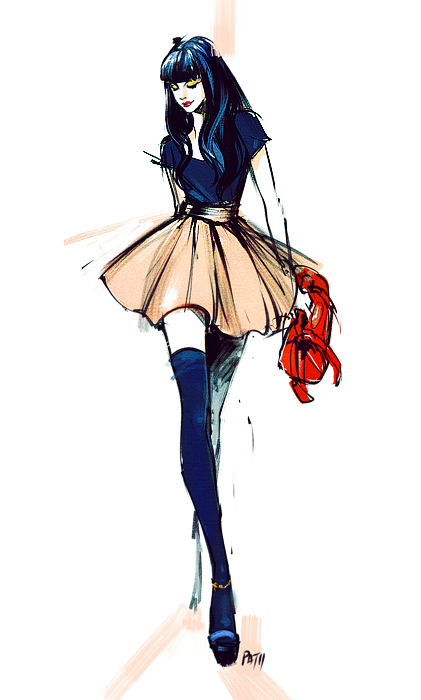 Tumblr Drawings Fashion Google Search On We Heart It