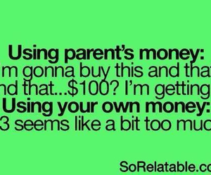 money, parents, and funny image