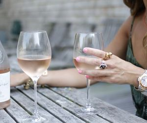 wine, drink, and rose image
