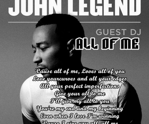john legend, Lyrics, and all of me image