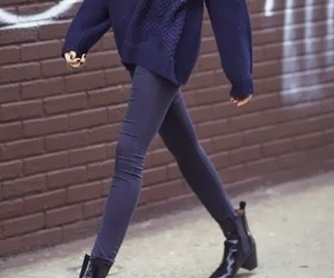 skinny jeans, chelsea boots, and minimalist style image