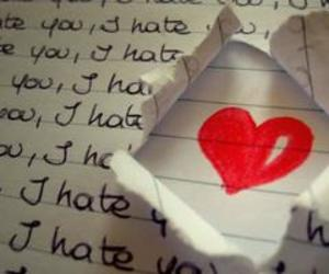 love, heart, and hate image