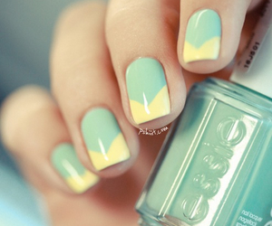 mint, cute, and nails image