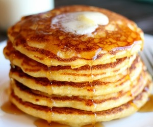 breakfast, pancakes, and cornmeal image