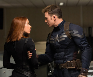 captain america, black widow, and chris evans image