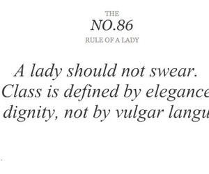 lady, quote, and rule of a lady image