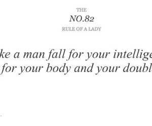 lady, rules, and quote image