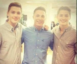 colton haynes, jack harries, and finn harries image