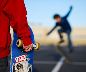 boy, skate, and vans image